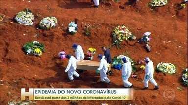 Coronavírus: 141 dias do primeiro caso confirmado no Brasil - No dia 26 de fevereiro, o Ministério da Saúde confirmou que um morador de São Paulo, que tinha voltado de viagem da Itália, estava com a doença. Há exatamente quatro meses, o país perdia a primeira pessoa para esse novo vírus.