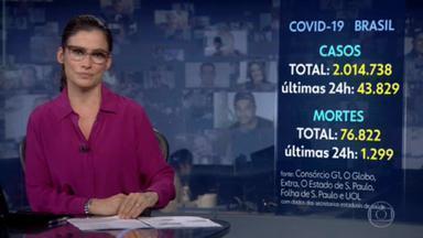 Número de pessoas infectadas pela Covid-19 no Brasil ultrapassa os 2 milhões - Quase 44 mil casos foram confirmados desta quarta (15) para esta quinta (16), segundo os dados coletados pelo consórcio de veículos de imprensa.
