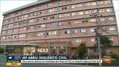 MP investiga demora na instalação de UTI no Hospital Regional Alto Vale - MP investiga demora na instalação de UTI no Hospital Regional Alto Vale