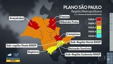 Governo do Estado atualiza hoje o mapa do Plano SP - Será a sétima atualização desde o começo da pandemia.