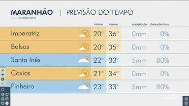 Veja as variações das temperaturas no Maranhão - Confira a previsão do tempo nesta sexta-feira (17) em São Luís e também no interior do estado.