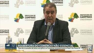 Covid-19: Taxa de ocupação de leitos de UTI na região de Campinas chega a 85,85% - Dependendo da ocupação dos leitos exclusivos para pacientes com coronavírus, estado de São Paulo pode atualizar o plano de reabertura do comércio na região.