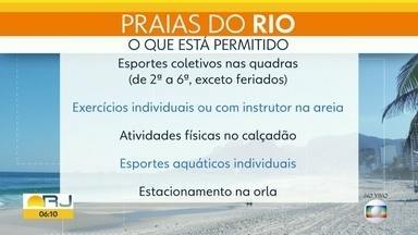 Confira o que pode e o que não pode nas praias do Rio - Fase 4 da reabertura tem novas regras.