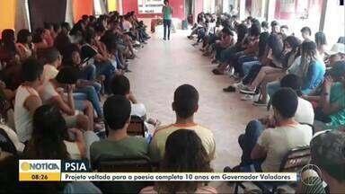 Sarau do Psia completa 10 anos em Governador Valadares - Organizadores e participantes falam sobre a importância da iniciativa e da poesia na vida das pessoas.