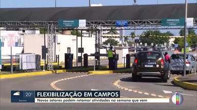 Novos setores da economia poderão funcionar em Campos - Nova flexibilização passa a valer a partir de segunda-feira.
