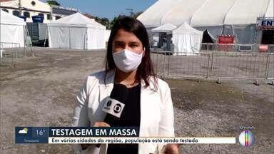 População está sendo testada em várias cidades da Região - RJ1 acompanha testes feitos no interior do Rio.