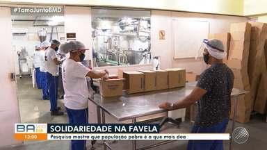 Pesquisa aponta que pessoas mais pobres são as que mais fazem doações em meio à pandemia - Levantamento foi feito pela Central Única das Favelas e pelo Instituto Locomotiva.