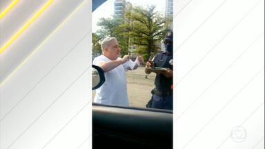 CNJ deve apurar conduta de desembargador que desrespeitou guarda municipal em SP - O desembargador rasgou a multa por estar sem máscara.