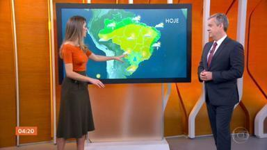 Calor predomina nesta segunda-feira em boa parte do país - Pode chover no litoral nordestino. Veja como vai ficar o tempo em cada região do país.
