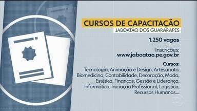 Jaboatão abre 1.250 vagas em cursos de qualificação - Inscrições são gratuitas e devem ser feitas pela internet