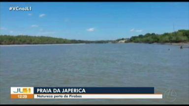 Praia do Japerica, em Pirabas, foi alternativa para o final de semana sem aglomeração - Praia do Japerica, em Pirabas, foi alternativa para o final de semana sem aglomeração