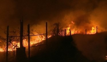 Incêndio atinge área na região da Transacreana em Rio Branco - Incêndio atinge área na região da Transacreana em Rio Branco