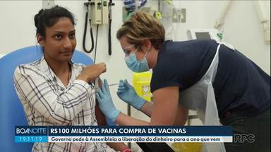 Governo pede a liberação de R$100 milhões para compra de vacinas contra o coronavírus - O pedido do governador foi enviado à Assembleia Legislativa para que reserve este dinheiro no orçamento do ano que vem. Os idosos serão o grupo prioritário para receber a vacina.