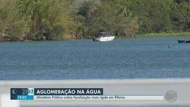 Ministério Público cobra fiscalização mais rígida em Rifaina, SP, para evitar infecção - Praia artificial e marinas estão fechadas, mas turistas circulam pelo Rio Grande.