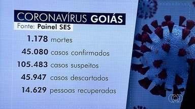 Goiás bate recorde com 3.098 casos de coronavírus registrados em 24 horas, diz governo - Ao todo, há 43.989 moradores infectados. Secretaria Estadual de Saúde informou que 14.064 pessoas se recuperaram da Covid-19, mas 1.154 morreram desde o início da pandemia.
