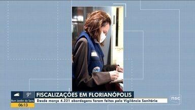 Fiscalizações da Vigilância faz mais de 4,2 mil abordagens em Florianópolis - Fiscalizações da Vigilância faz mais de 4,2 mil abordagens em Florianópolis