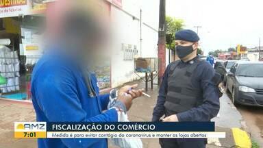Guarda municipal realiza fiscalização no comércio boavistense para contenção da covid-19 - Medida é para evitar contágio do coronavírus e manter as lojas abertas.