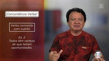 Projeto Educação: professor de português dá dicas sobre concordâncias verbal e nominal - Vicente Santos explica a diferença entre elas.