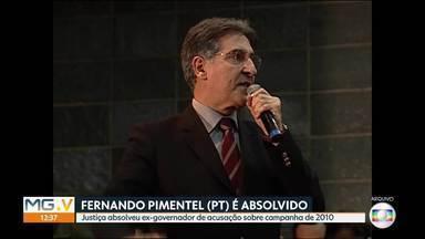 Justiça absolve ex-governador Fernando Pimentel (PT) de acusação sobre campanha de 2010 - O ex-governador de Minas Gerais era acusado de omitir R$ 1,4 milhão de prestação de contas da campanha ao Senado em 2010.