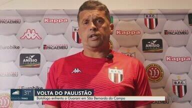 Botafogo-SP enfrenta Guarani em São Bernardo do Campo - Jogo marca retomada do Paulistão para as equipes.