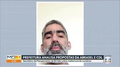 Secretário de Planejamento de BH fala sobre negociação para reabertura de bares - Prefeitura negocia com a Abrasel como será a reabertura de bares e restaurantes em Belo Horizonte.
