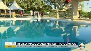 Piscina de salto é inaugurada no Centro Olímpico - Espaço será usado para treinamento dos bombeiros e para atletas.