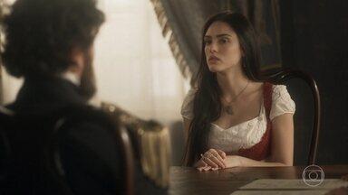Thomas conta ao ministro como Anna fugiu de sua casa - Ele considera que sua esposa não está em pleno uso de sua faculdades mentais