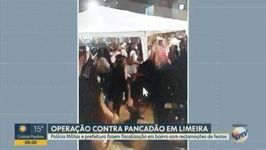 Covid-19: Polícia Militar de Limeira faz operação para evitar pancadões na cidade - Operação, apelidada de saturação, aconteceu no bairro Ernesto Kil, em Limeira (SP). Ação também vistoriou estabelecimentos comerciais.