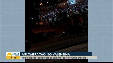 Polícia dispersa aglomeração durante competição de 'passinho' em praça de João Pessoa - Caso aconteceu no Bairro do Valentina