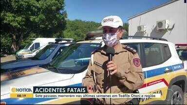 Aumenta o número de acidentes nas estradas que cortam Teófilo Otoni - Segundo a Polícia Militar Rodoviária, imprudência é a causa da maioria dos acidentes.
