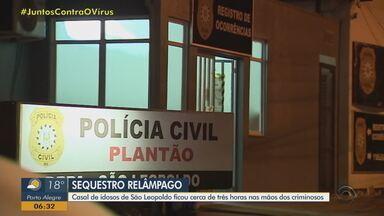 Casal de idosos é sequestrado por cerca de três horas em São Leopoldo - Suspeitos obrigaram vítimas a fazer saques em caixas eletrônicos na Região Metropolitana de Porto Alegre.