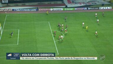 No retorno ao Campeonato Paulista, São Paulo perde do Bragantino no Morumbi - Time disputou partida contra o Bragantino na quinta-feira (23). São Paulo perdeu de 3 a 2.
