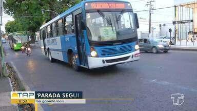 Lei 'Parada Segura' garante mais segurança para mulheres em Santarém - Confira na reportagem.