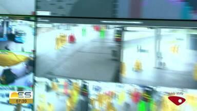Câmeras vão monitorar aglomeração em ônibus do Transcol no ES - São mais de 30 câmeras posicionadas.