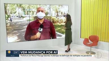 Prefeitura de Nova Friburgo decreta mudanças na definição de restrições na pandemia - Mudanças atendente pedidos feitos por empresários.