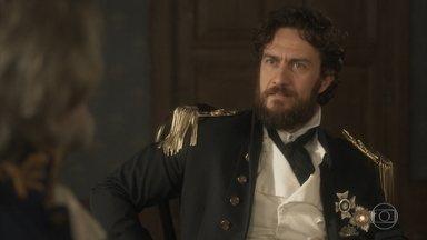 Thomas tenta convencer o ministro a reconsiderar sua decisão - O ministro permite que Anna fique com Joaquim e Vitória até sua decisão final. Anna acusa Thomas de ter matado seu pai