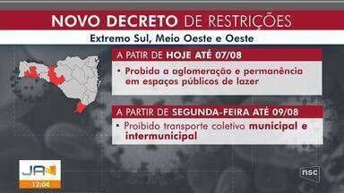 Governo de SC publica novo decreto com mais restrições - Governo de SC publica novo decreto com mais restrições