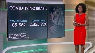 Brasil tem 85.562 mortes por Covid-19 e mais de 2,3 milhões de infectados - Nove estados registram aumento no número de mortes pela Covid-19. A pior alta está agora em Mato Grosso do Sul, segundo o balanço do consórcio dos veículos de imprensa.