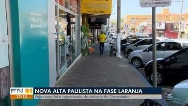 Nova Alta Paulista permanece na fase laranja do Plano São Paulo - Veja como foi a repercussão do anúncio do Governo do Estado.