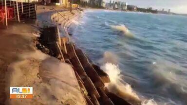 Marinha alerta para ressa no mar em Alagoas - Confira a reportagem.