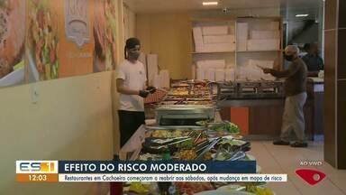 Restaurantes voltam a abrir em Cachoeiro de Itapemirim, ES - Confira na reportagem.