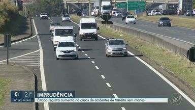 Estado de São Paulo registra aumento nos casos de acidentes de trânsito sem mortes - Enquanto isso, Campinas (SP) fechou o primeiro semestre deste ano com aumento de 8,3% no número de mortes no trânsito.