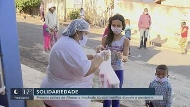 Projetos sociais de Alfenas e Machado ajudam famílias durante a pandemia - Projetos sociais de Alfenas e Machado ajudam famílias durante a pandemia