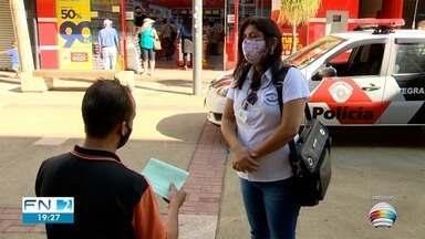 Desrespeito à obrigatoriedade de uso de máscaras faciais rende autuações - Desde o início das fiscalizações, 11 pessoas e três estabelecimentos já foram autuados em Presidente Prudente.