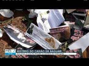 Caixão sem corpo é deixado em cemitério no Distrito de Baguari, em Governador Valadares - Caso é investigado pela Polícia Civil.