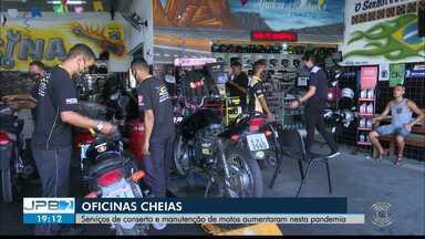 Aumento de serviço delivery faz oficinas de motos enfrentar crise na Pandemia - Aumentou procura por serviços de manutenção