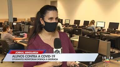 Estudantes de medicina e enfermagem ajudam a monitorar pacientes com Covid-19 em São José - Alunos estão dando apoio realizando teleatendimentos, tirando dúvidas e ajudando a monitorar os pacientes.