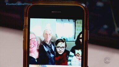 Netos usam a tecnologia para homenagear avós no RS devido à pandemia - Comemorações do dia dos avós serão feitas à distância.