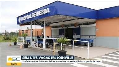 Prefeitura abre 16 novos leitos intensivos na rede pública em Joinville - Prefeitura abre 16 novos leitos intensivos na rede pública em Joinville