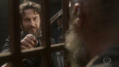 Thomas vai ao encontro de Fred no navio - Ele ameaça dar um fim a Miss Liu e deixa Fred desconcertado